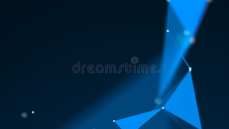 Abstract Polygonal Space Background with Connecting Dots and Lines. 3d rendering vector illustration