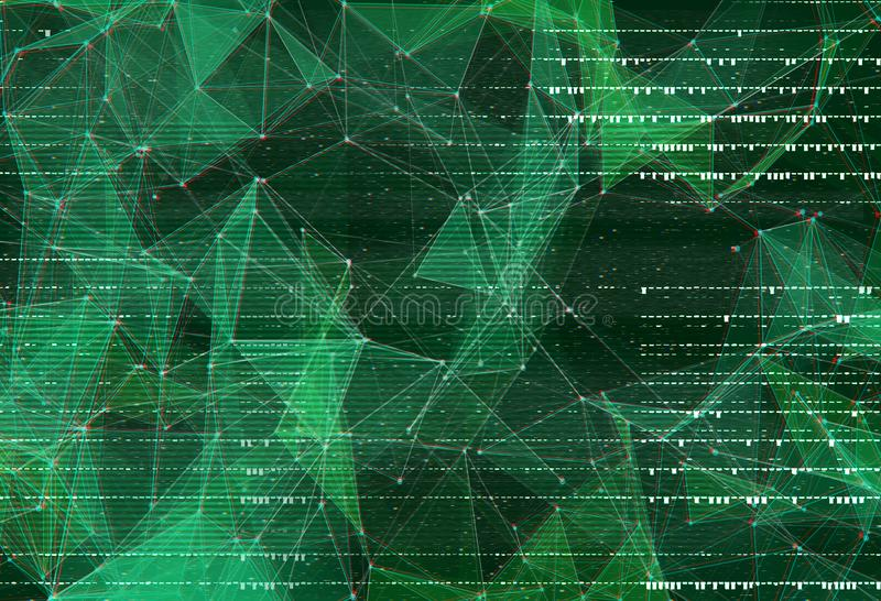Abstract polygonal space low poly background. vector illustration