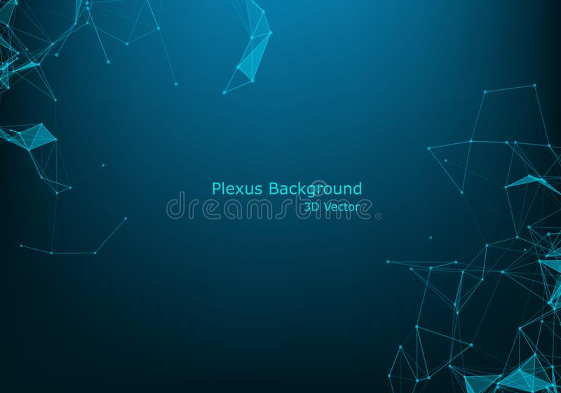Abstract polygonal space low poly dark background with connecting dots and lines. Connection structure. Futuristic polygonal. Background. Triangular business stock illustration