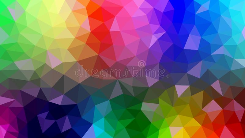 Abstract Polygonal Texture with Rainbow Colors vector illustration