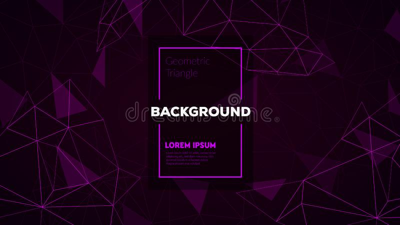 Abstract polygonal triangles background with connecting dots and lines. Vector science background. stock photos