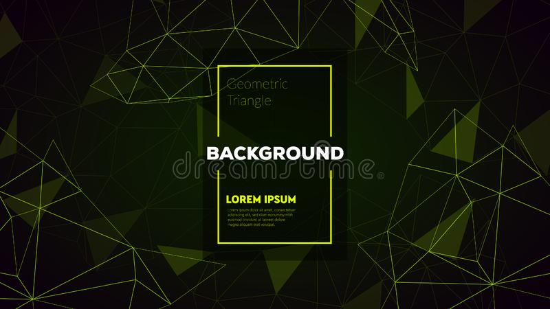 Abstract polygonal triangles background with connecting dots and lines. Vector science background. stock images