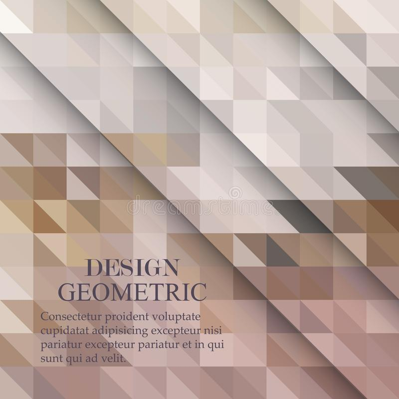 Abstract polygonal vector background. Beige geometric vector illustration. Creative design template. Abstract vector background for use in design royalty free illustration