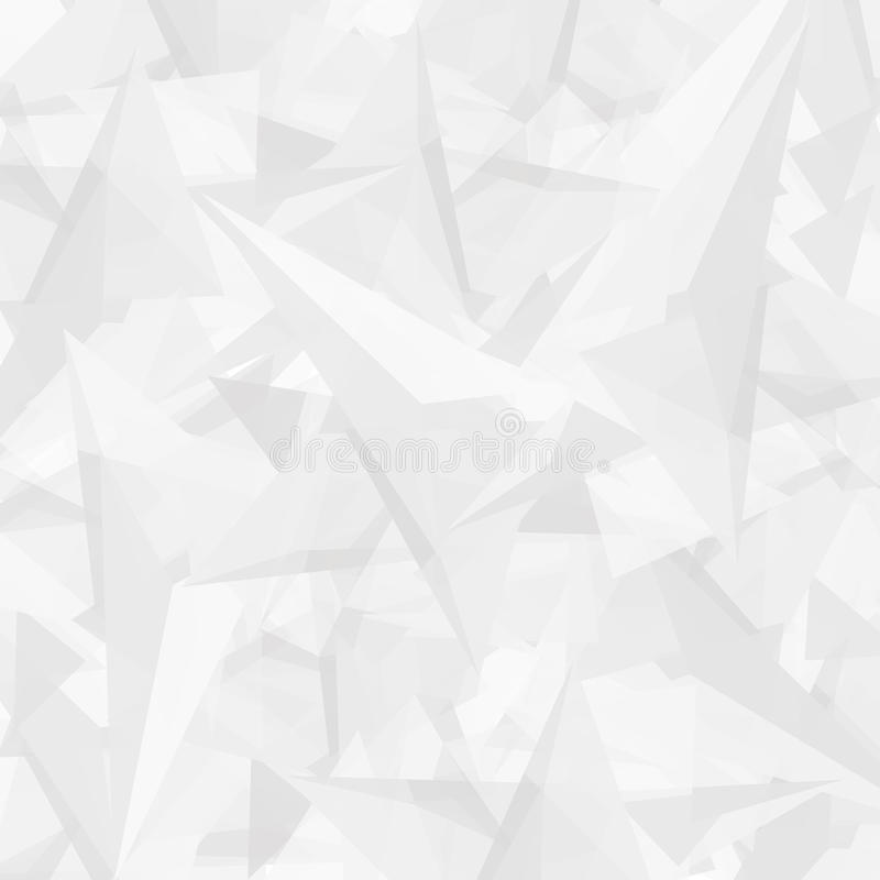 Abstract polygonal white modern background with triangles royalty free illustration