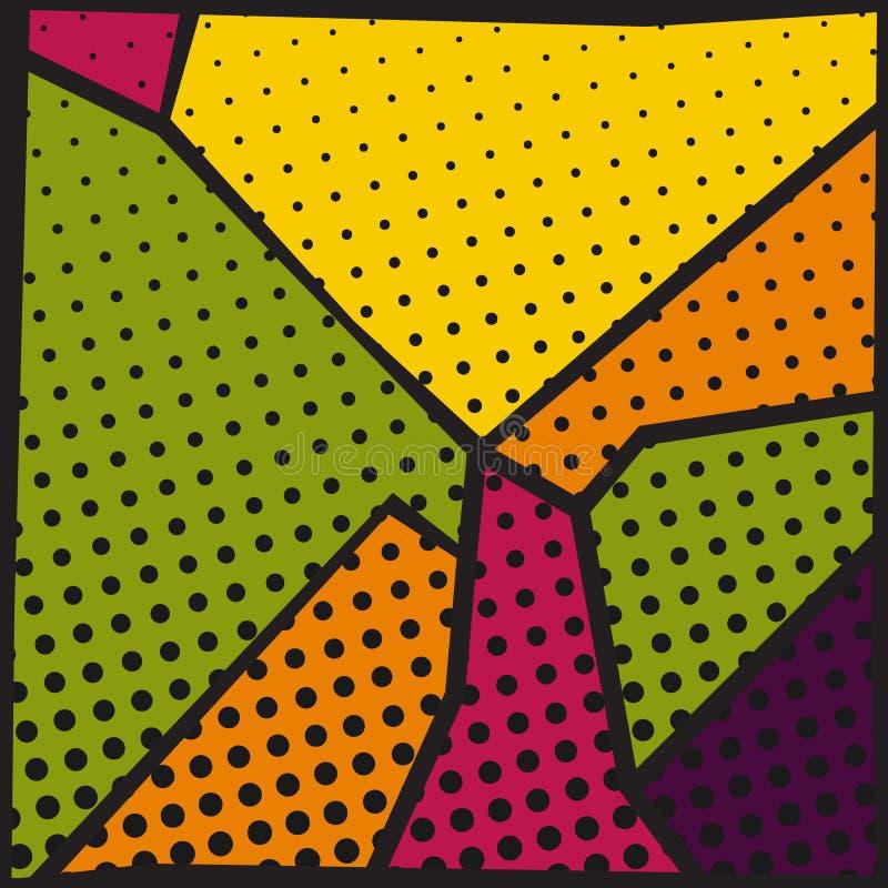 Abstract pop-art background vector illustration