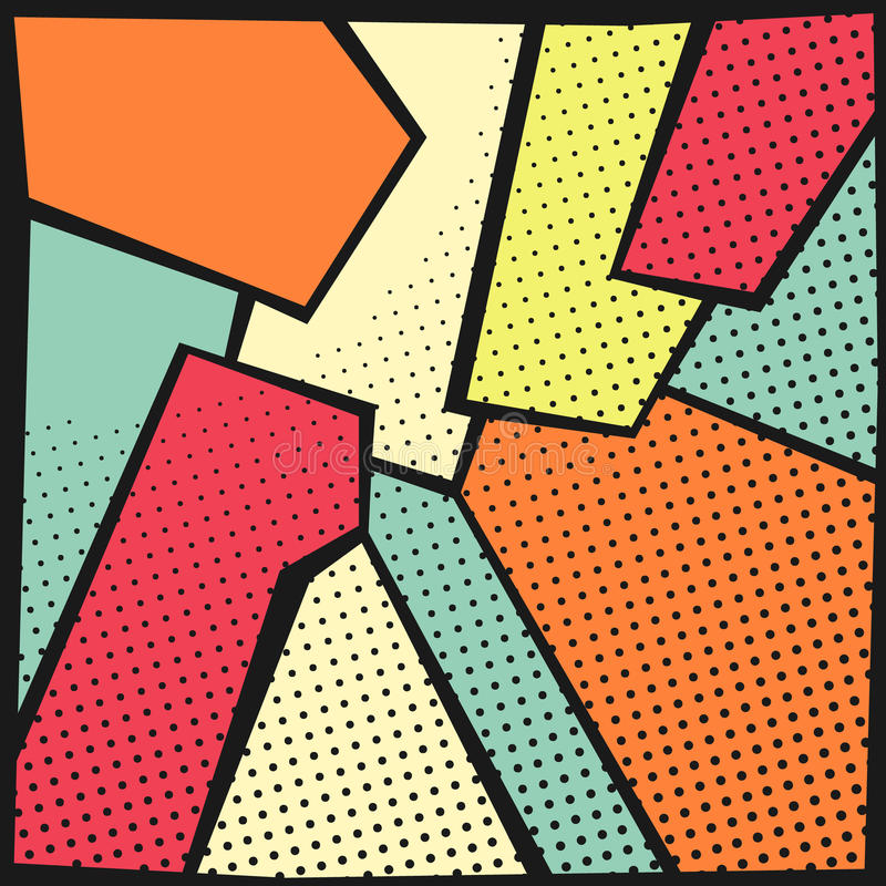 Abstract pop-art background royalty free illustration