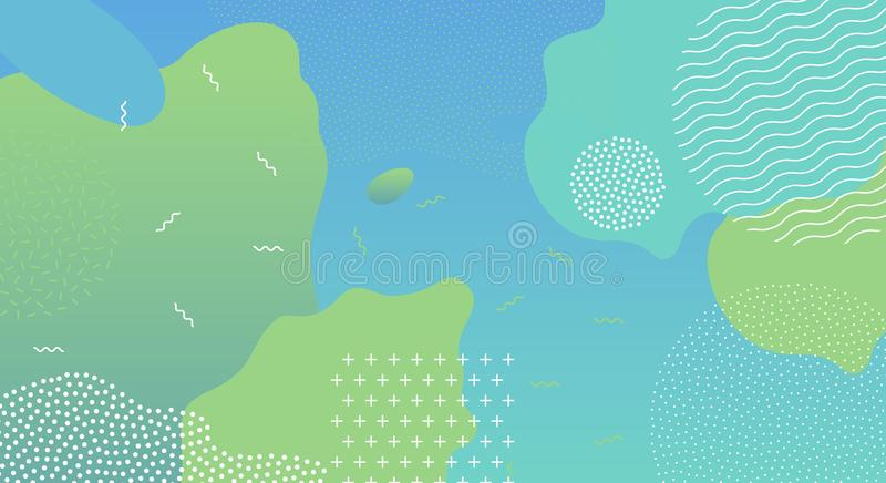 Abstract pop art liquid color pattern background stock illustration