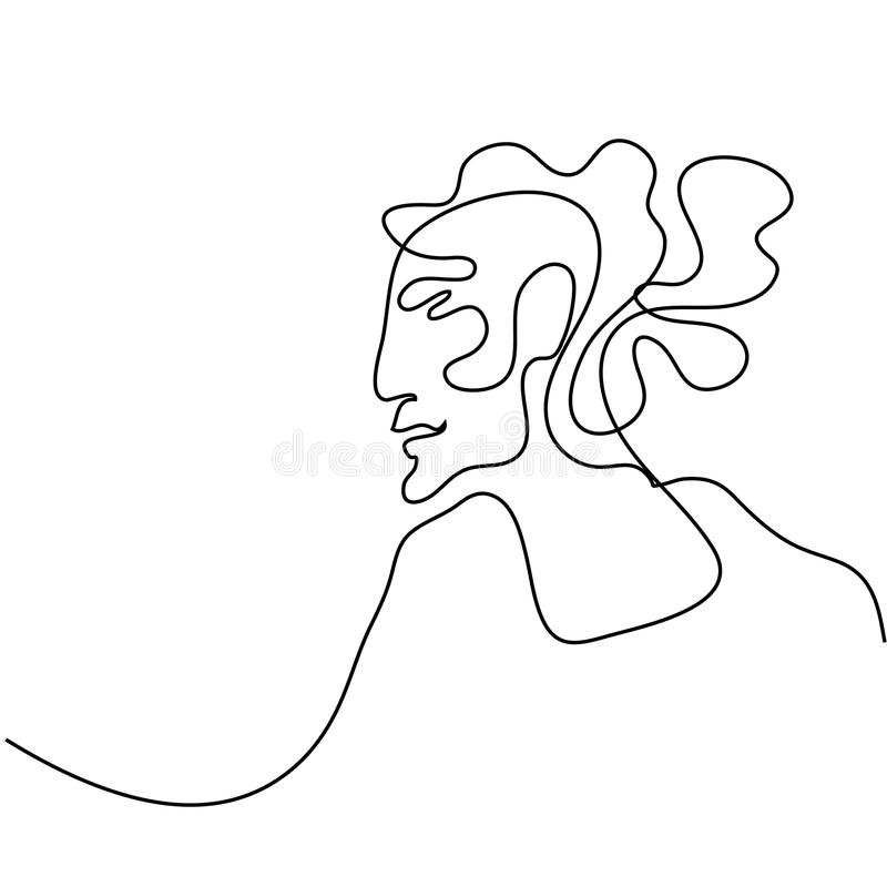 Abstract portrait of a woman royalty free illustration