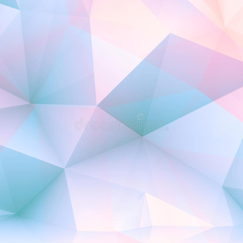 Abstract positive 3 d polygonal background vector illustration