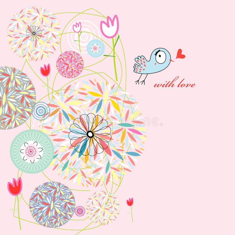 Download Abstract Postcard Love Bird Stock Photo - Image: 20492622