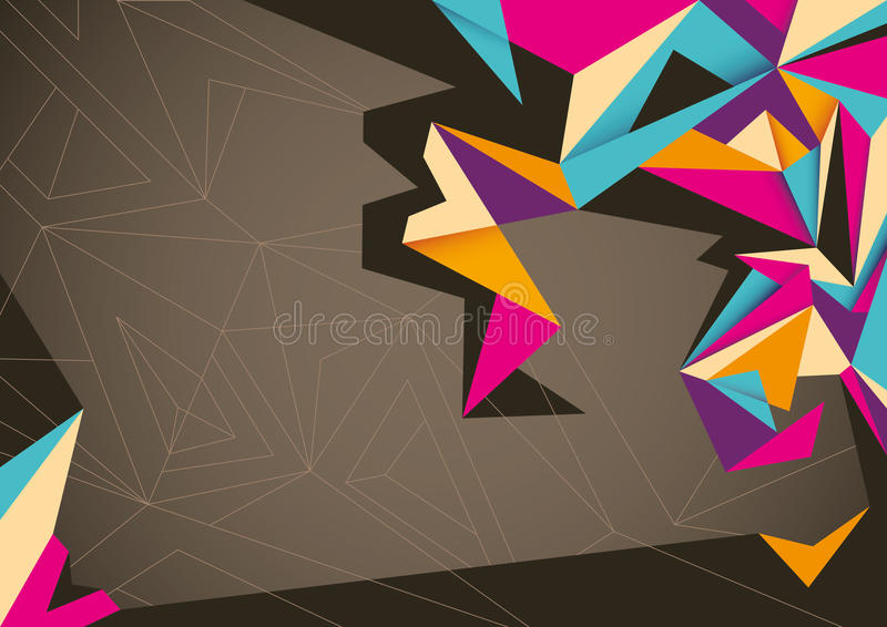 Abstract poster. stock illustration