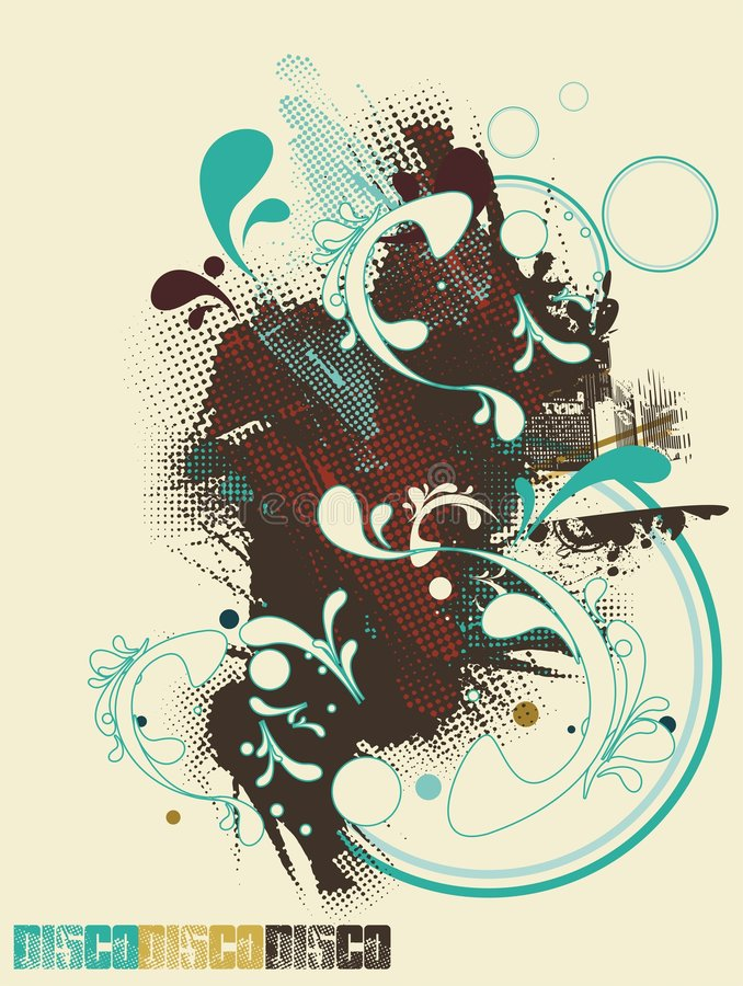 Abstract poster design stock illustration