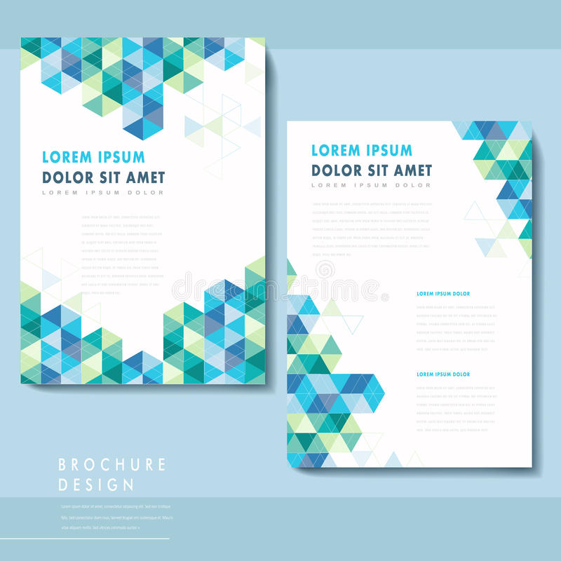 Abstract Poster Template Design Stock Vector - Illustration of ...