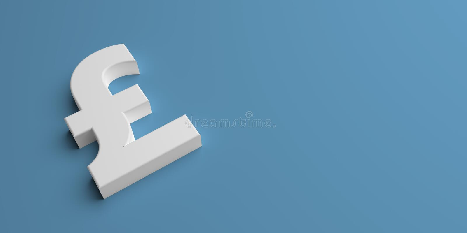 Abstract pound symbol at finance - illustration stock illustration