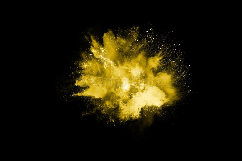 Colorful powder explosion on white background. Abstract powder splatted background. Colorful powder explosion on white background. Colored cloud. Colorful dust royalty free stock photography
