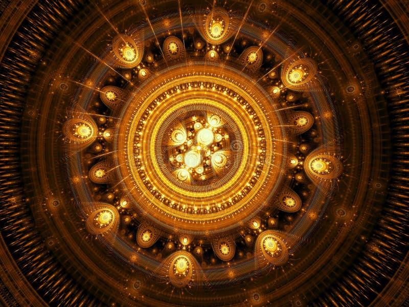 Abstract precious mandala - digitally generated image royalty free stock image