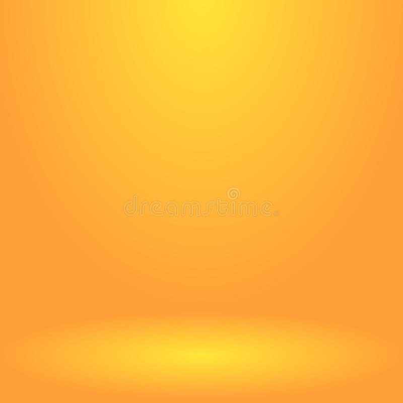 Abstract presentation backdrop. Abstract golden background for presentation. Empty room illuminated by a spotlight. Vector, eps 10 royalty free illustration