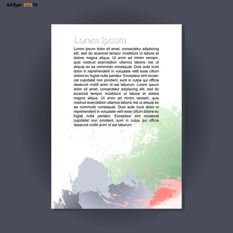 Download Abstract Print A4 Design With Colored Brush Strokes For Flyers Banners Or Posters