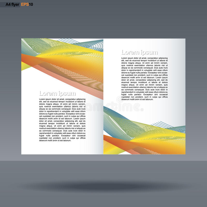 Download Abstract Print A4 Design With Colored Lines For Flyers Banners Or Posters Over Silver