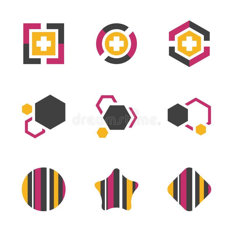Abstract Professional Business Symbol Teamwork Company技术创新传染媒介象 EPS10 皇族释放例证