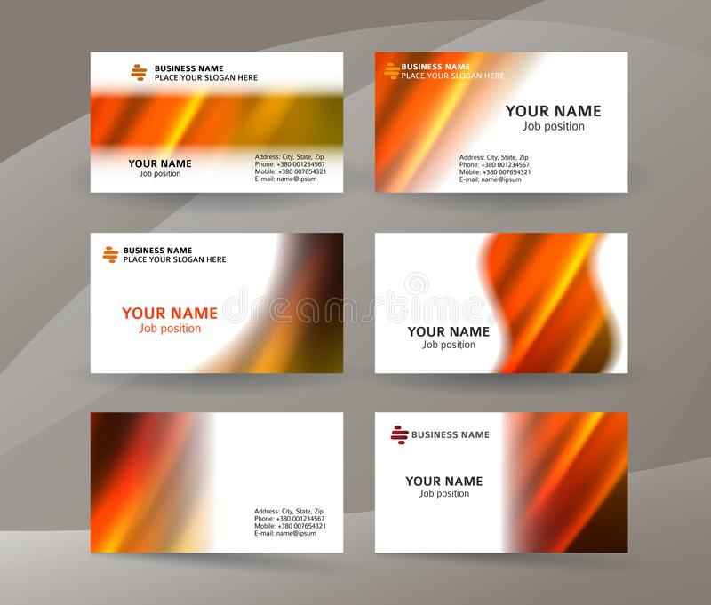Business card layout template set24 royalty free illustration