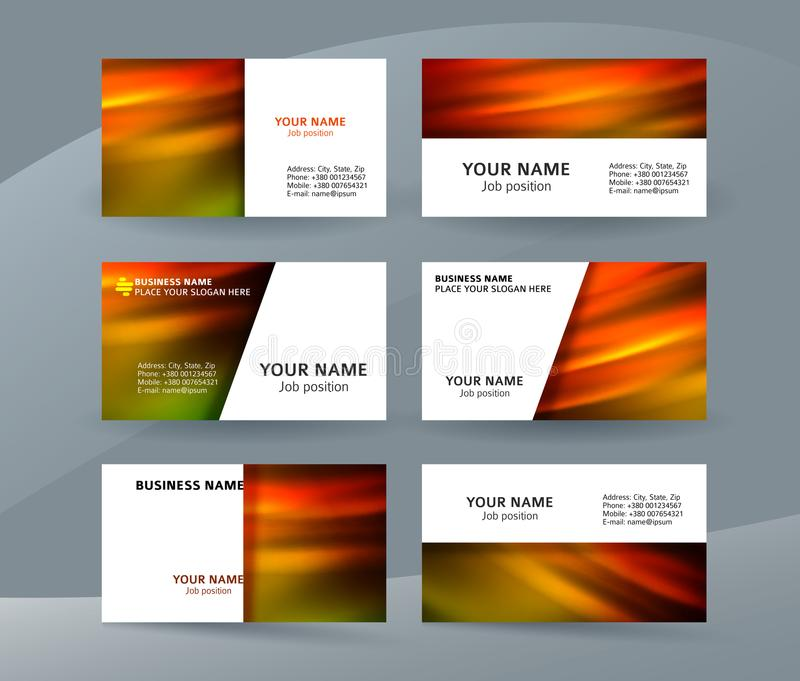 Business card layout template set33 vector illustration