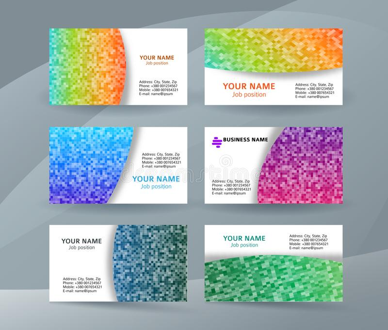Business card layout template set16 royalty free illustration