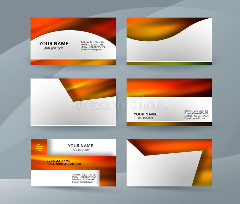Business card layout template set21 vector illustration