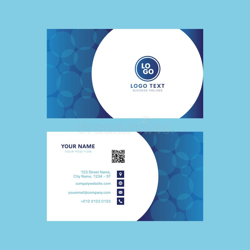 Abstract professional water bubble business card design stock illustration