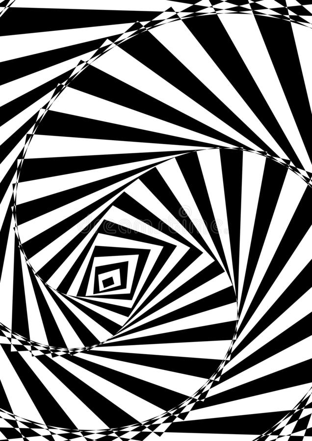 Abstract psychedelic backgrounds. Optical contrast abstract background with distorted lines. Black and white striped psychedelic background. Abstract vector vector illustration