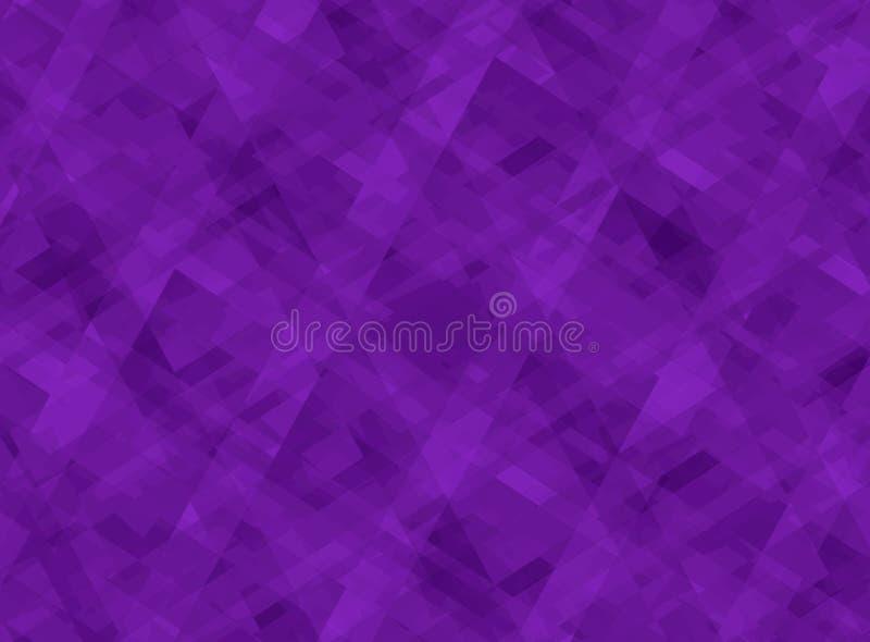 Abstract purper patroon als achtergrond met diagonale lijnenvormen en strepen in gelaagd modern ontwerp stock illustratie