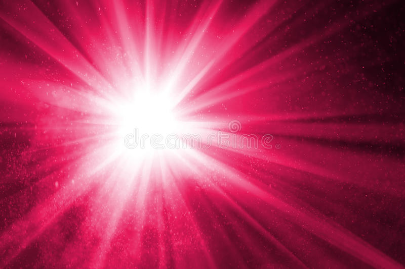 Abstract Purple Background With Rays Stock Photo