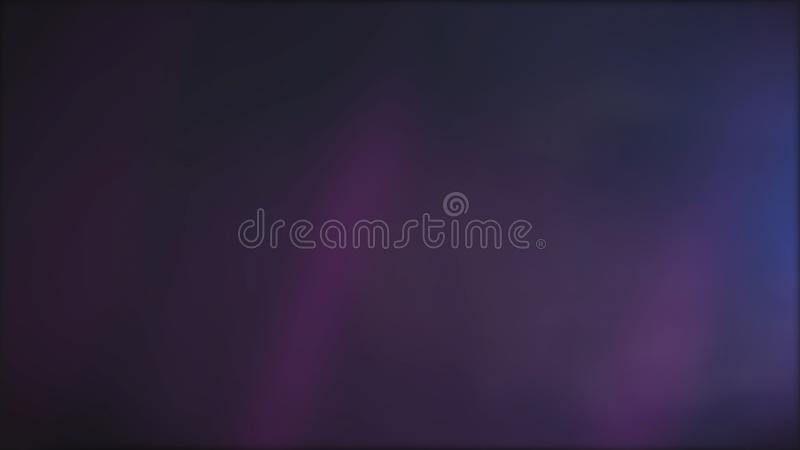 Abstract purple background with slowly flowing dark pink beams of light and shimmering blue projector, seamless loop stock illustration