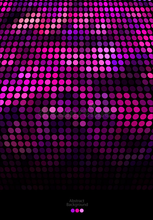 Abstract pink and black dots background royalty free illustration