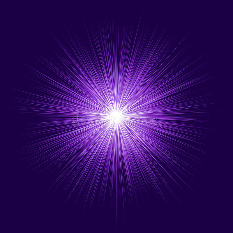 Abstract purple blast design on dark background royalty free illustration