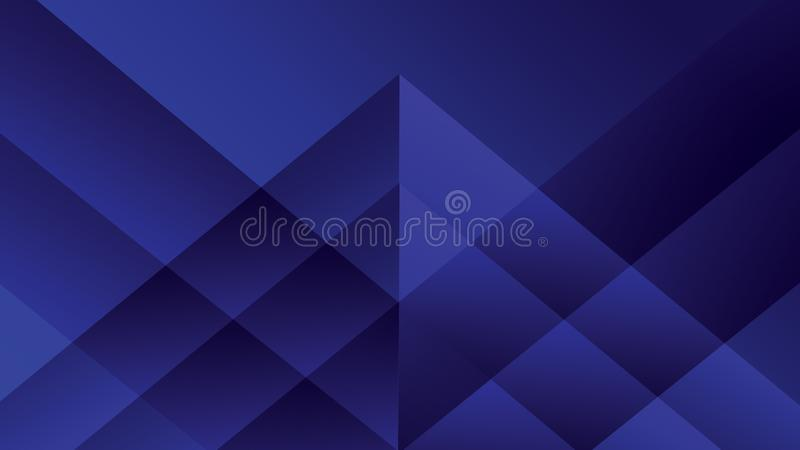 Abstract purple and blue background, Transparent purple triangles overlap on dark blue background stock photography