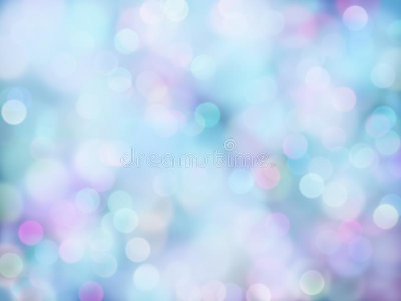 Abstract purple-blue bokeh blur lights. For product background usage vector illustration