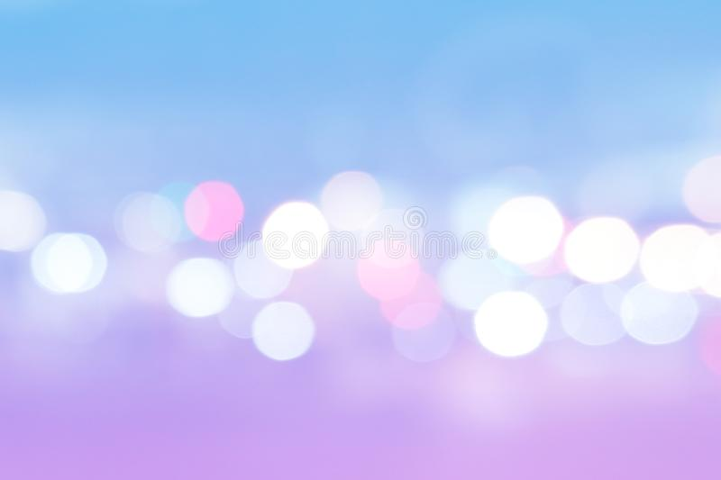 Abstract Purple and Blue Bokeh. Pastel Light Texture. Beautiful Pink, Blue Blurred Round royalty free stock images