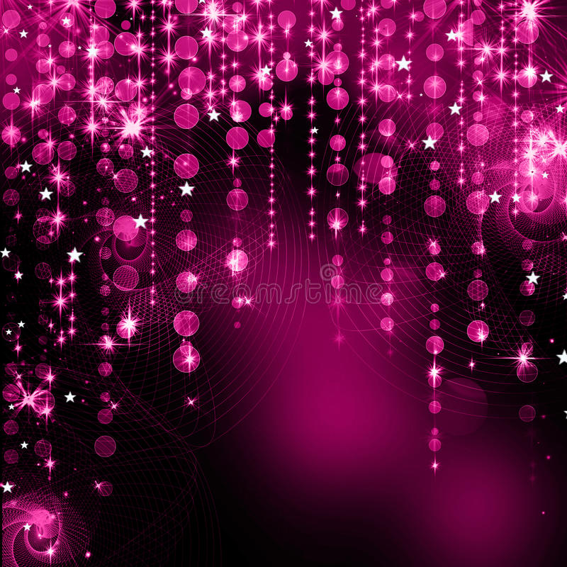 Abstract purple christmas lights. As background