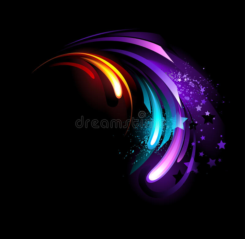 Abstract purple crystal. Abstract , blue , purple , hot crystal on a black background vector illustration