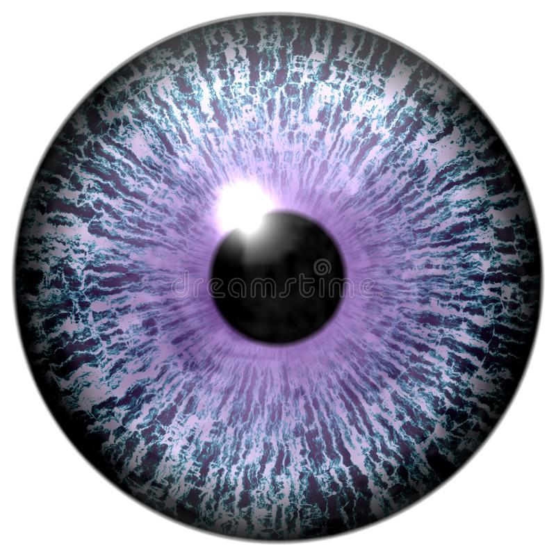 Abstract purple eye on white royalty free illustration