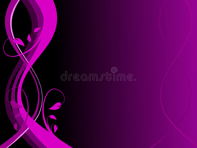 Abstract Purple Floral Background stock illustration