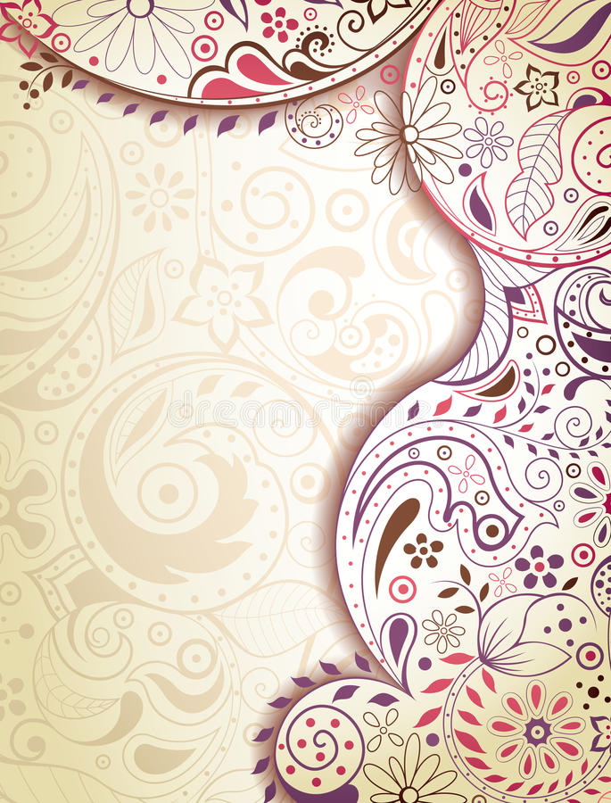 Abstract Purple Floral Stock Photo
