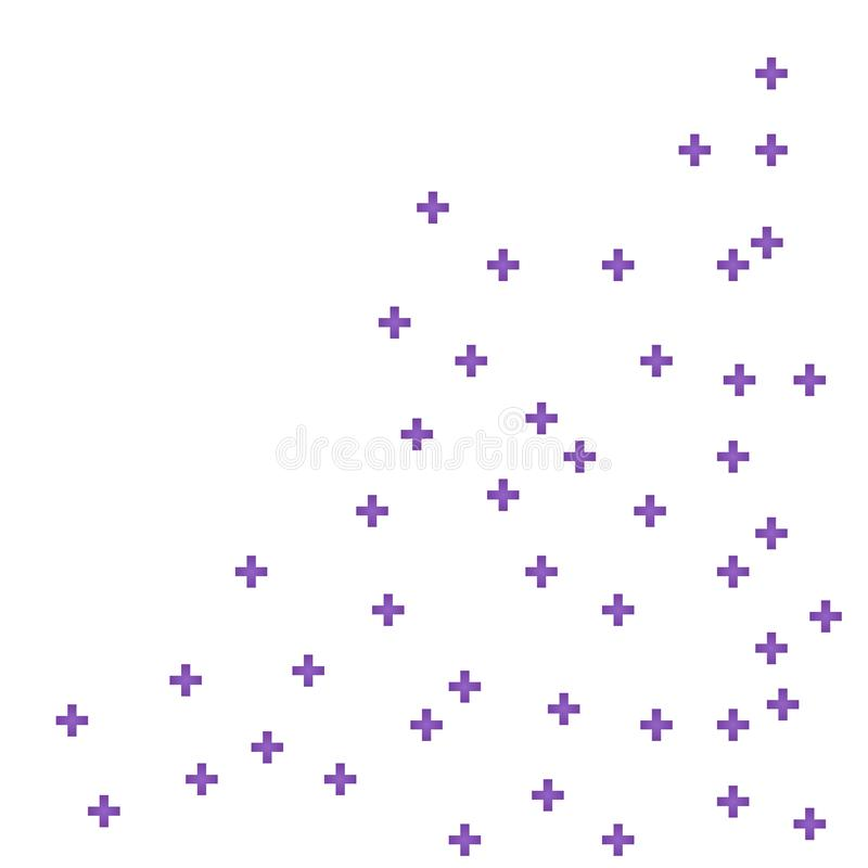 Abstract purple geometric medical cross shape medicine and science concept background vector illustration