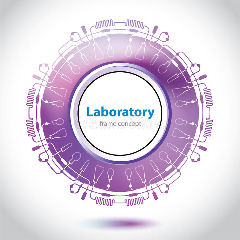 Abstract purple medical laboratory element. Abstract purple medical laboratory circle element royalty free illustration