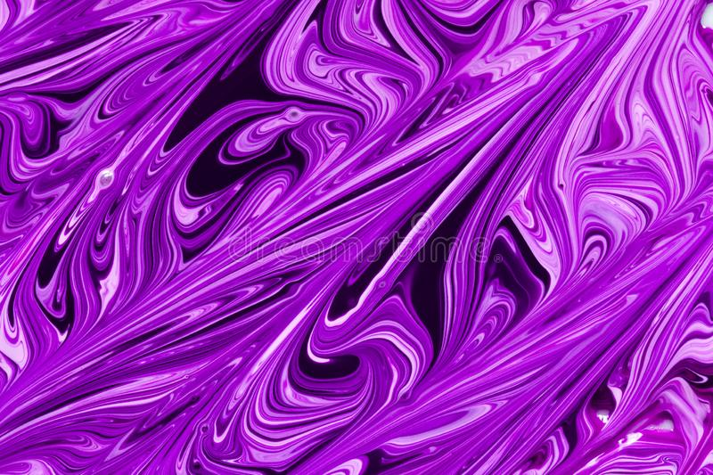 Abstract purple, pink and black paint swirls royalty free stock photography
