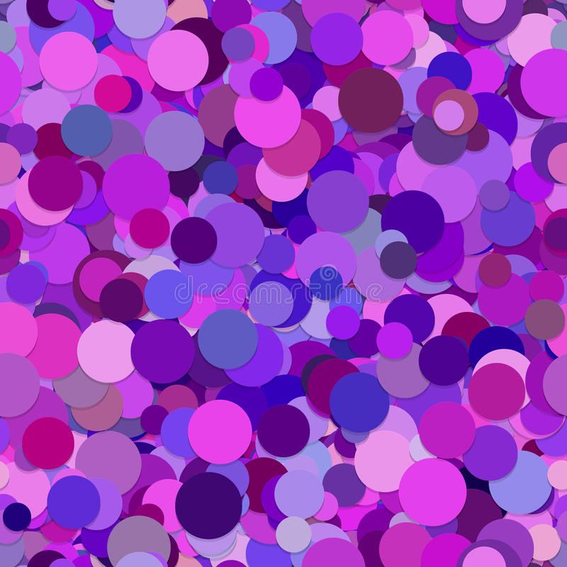 Abstract purple random dot pattern background. Seamless abstract random scattered dot pattern background from circles in different purple tones and sizes stock illustration