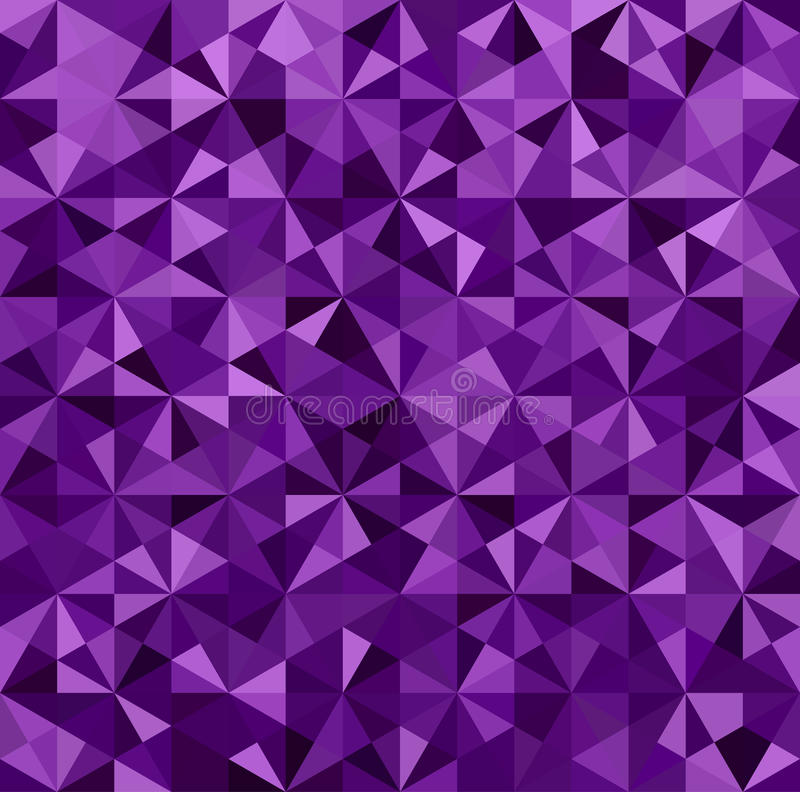 Abstract Purple Triangle Background Stock Vector