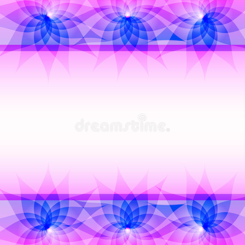 Abstract Purple Vector Background With Flowers Stock
