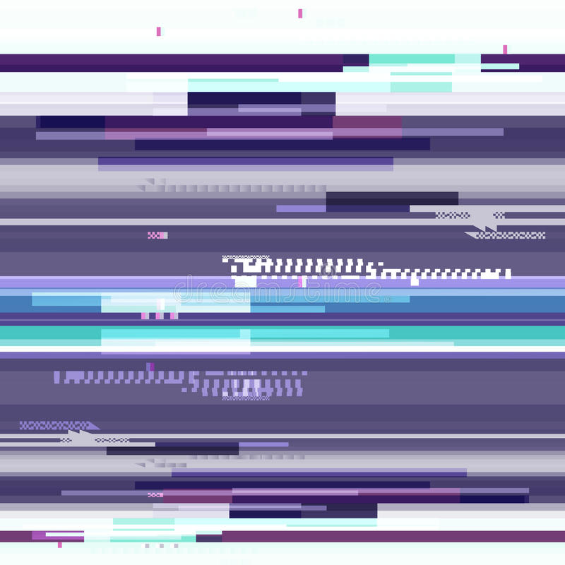 Abstract purple wallpaper in the style of a glitch pixel. Purple geometric pattern noise. Grunge, modern background with stock illustration